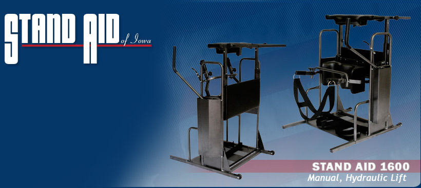Stand Aid 1600 Power Lift Manual, Hydraulic lift standing frame Stander