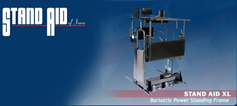 Stand Aid XL - Bariatric Power Standing Frame power assist standing frame by Stand Aid of Iowa