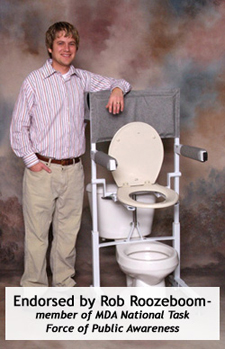photo: Power Toilet Aid is endorsed by Rob Roozeboom - member of MDA National Task Force of Public Awareness